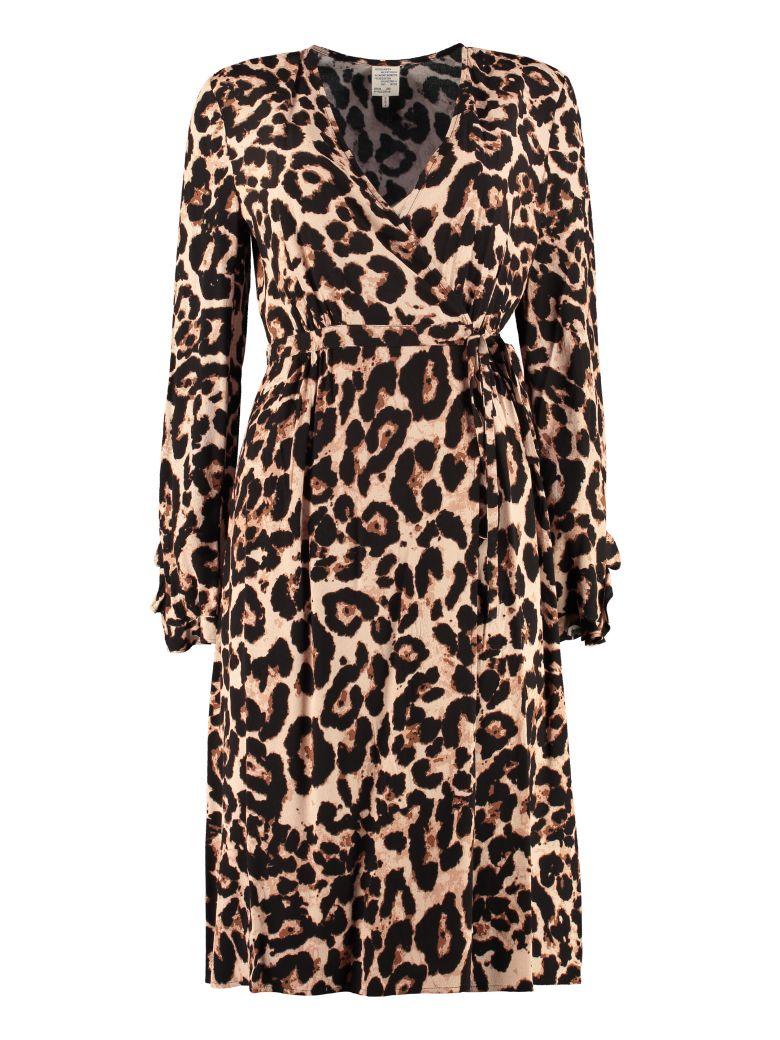Baum und Pferdgarten Adelota Leopard Printed Midi Dress