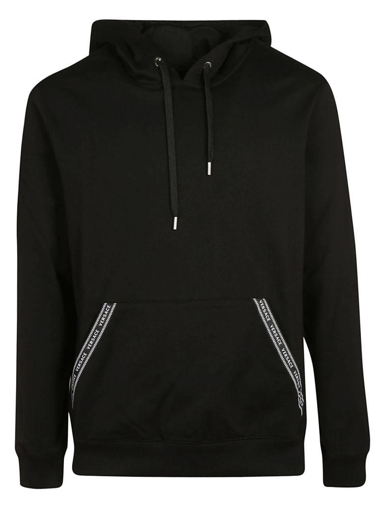 Versace Logo Hoodie - Black