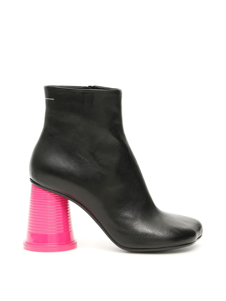 MM6 Maison Margiela Cup To Go Boots - BLACK PINK (Black)