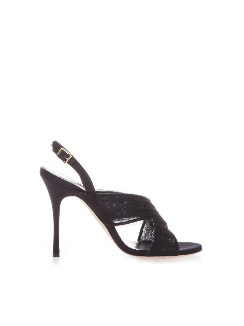 Manolo Blahnik Leather Black Sandals - Black