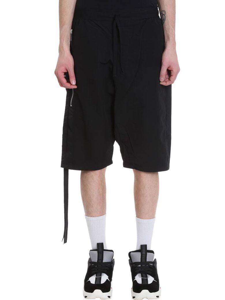 Ben Taverniti Unravel Project Black Cotton Shorts - Black
