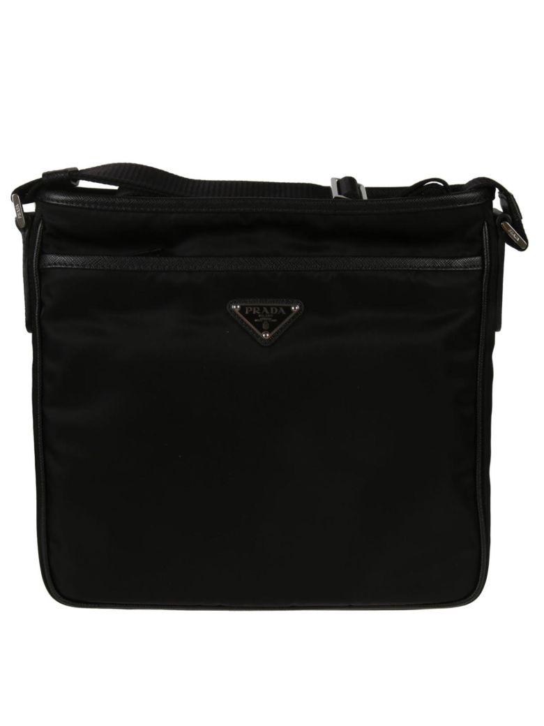 Prada Logo Shoulder Bag - Black