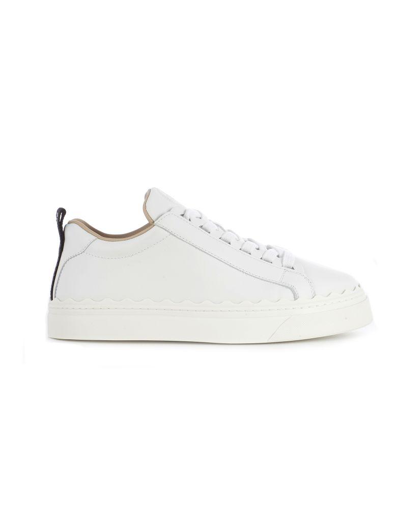 Chloé Logo Sneakers - White