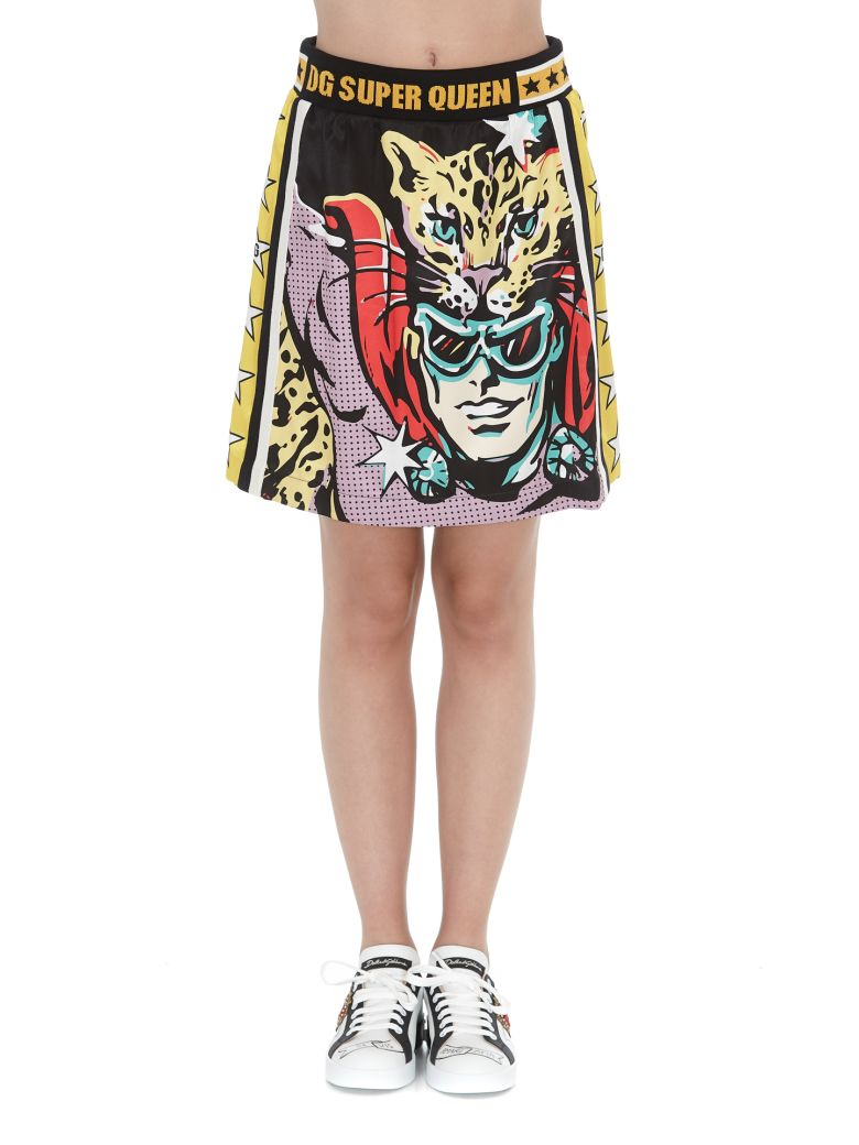 Dolce & Gabbana Dg Super Queen Skirt - Multicolor