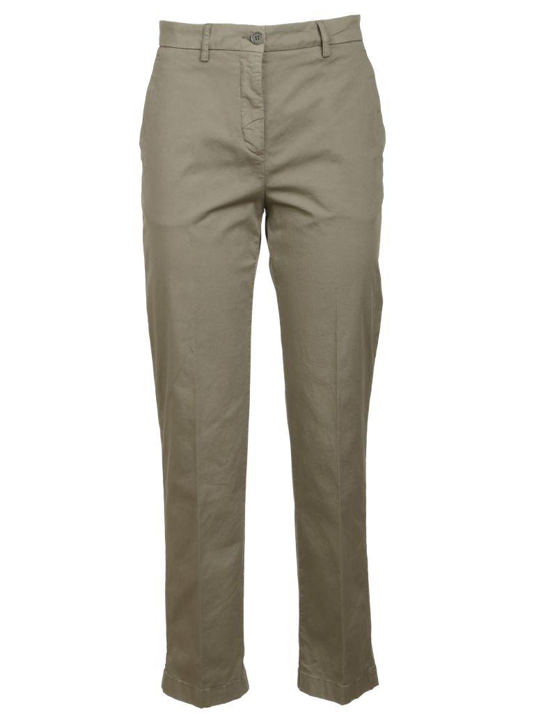 Aspesi Cropped Slim Trousers - Gray