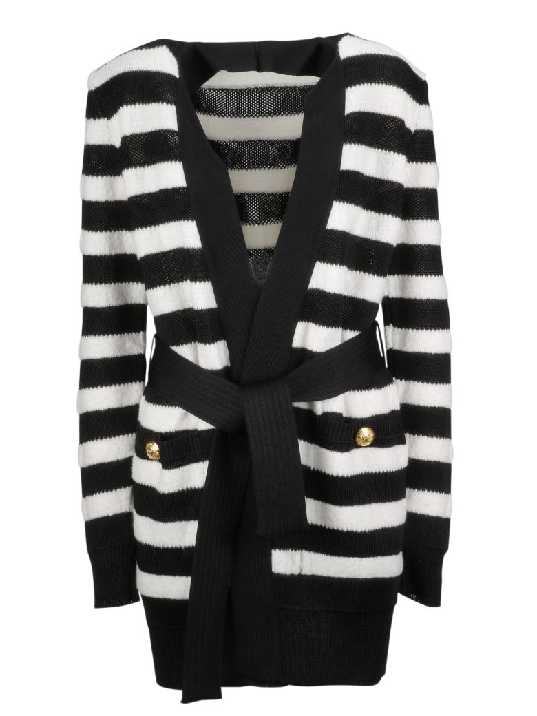 Balmain Structured Shoulder Cardigan - Basic