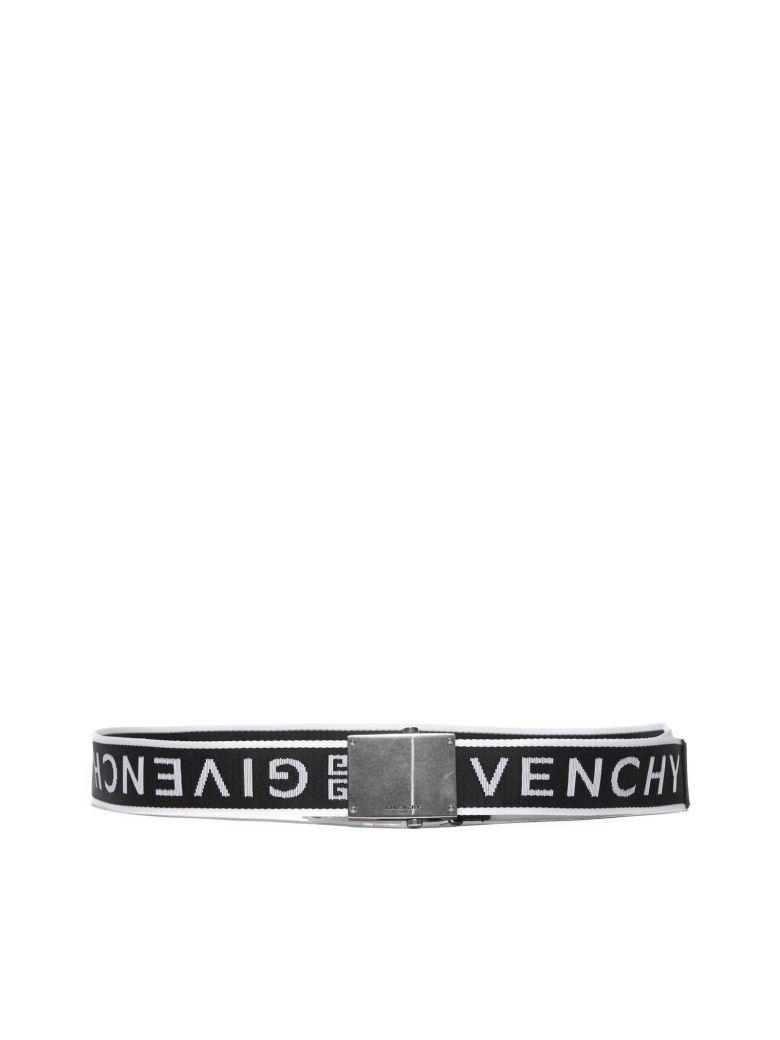 Givenchy Logo Strap Belt - Nero bianco