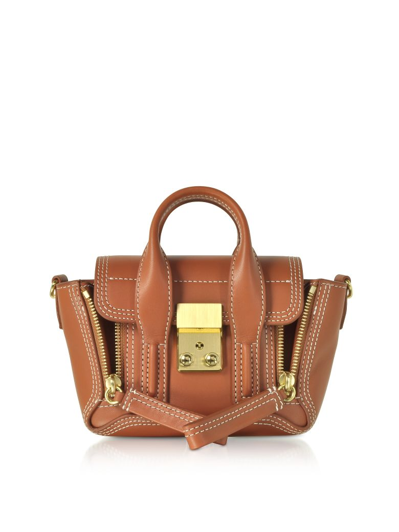 3.1 Phillip Lim Pashli Nano Satchel Bag - Cognac