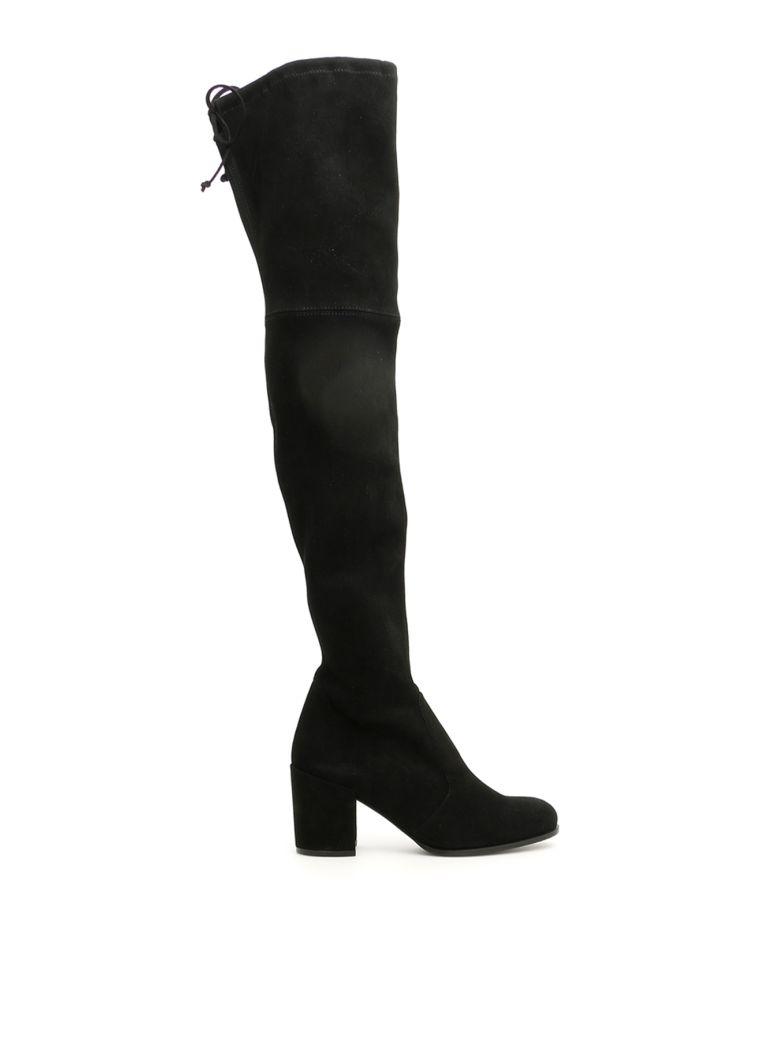 Stuart Weitzman Suede Tieland Boots - BLACK|Nero