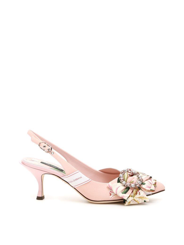 Dolce & Gabbana Printed Slingbacks - GIGLI FDO ROSA (Pink)