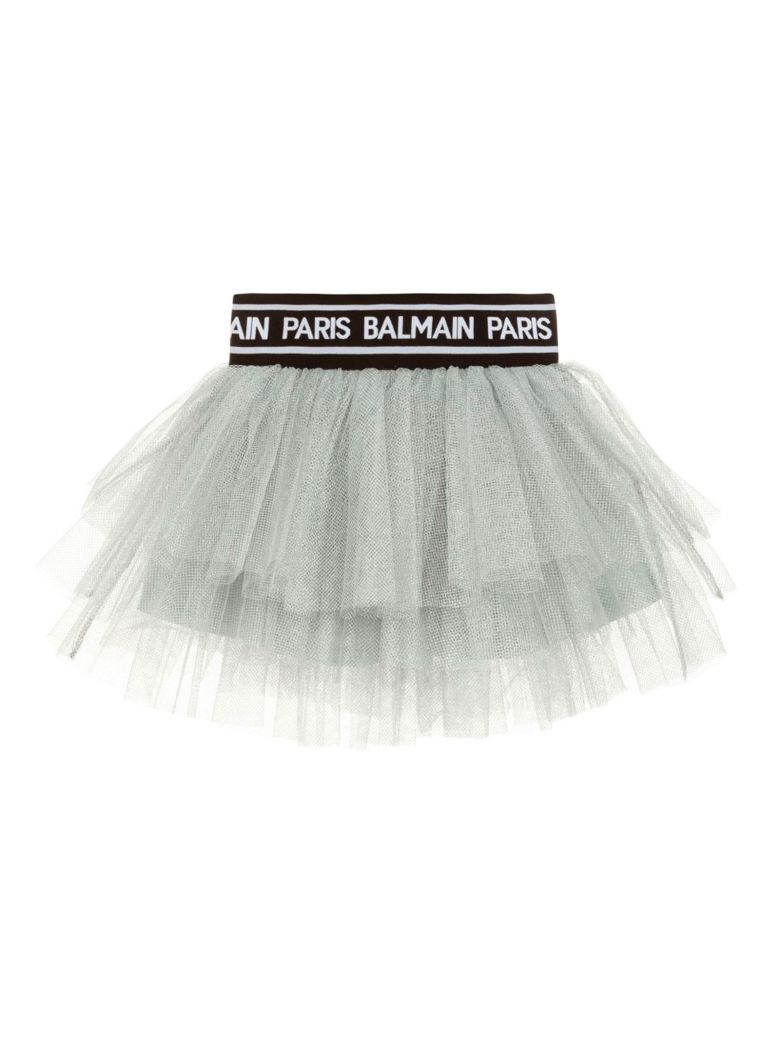 Balmain Gray Girl Skirt - Unica