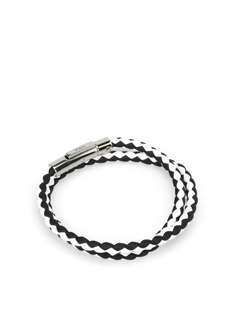 Tod's Mycolors Bracelet In Leather - Black white