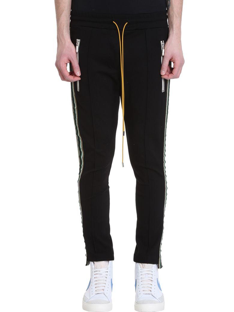 Rhude Traxed Black Fabrical Technics Pants - black