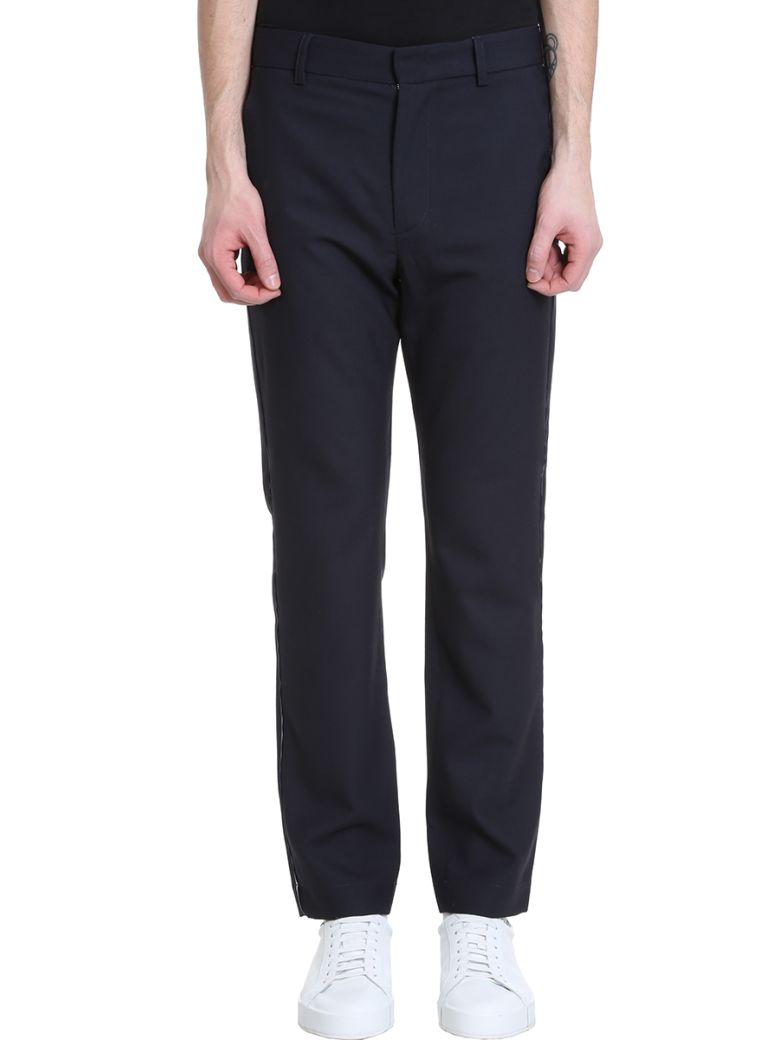 Maison Flaneur Blue Wool Pants - blue