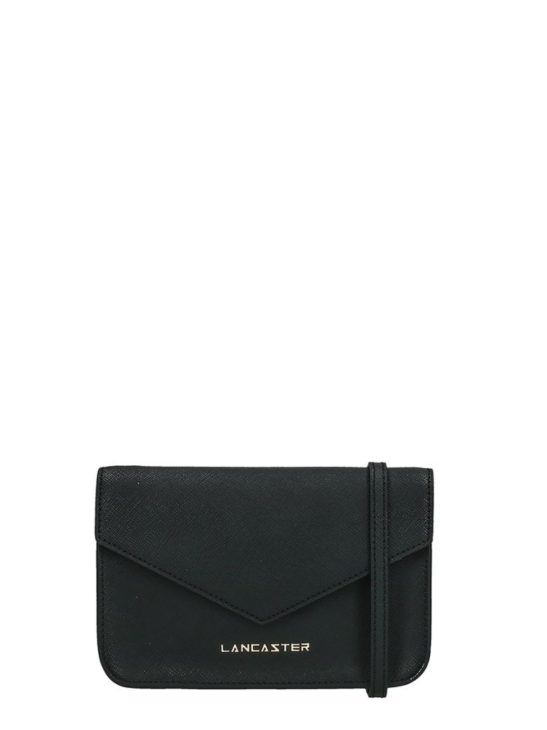 Lancaster Paris Adeline Mini Black Saffiano Leather Pochette - black
