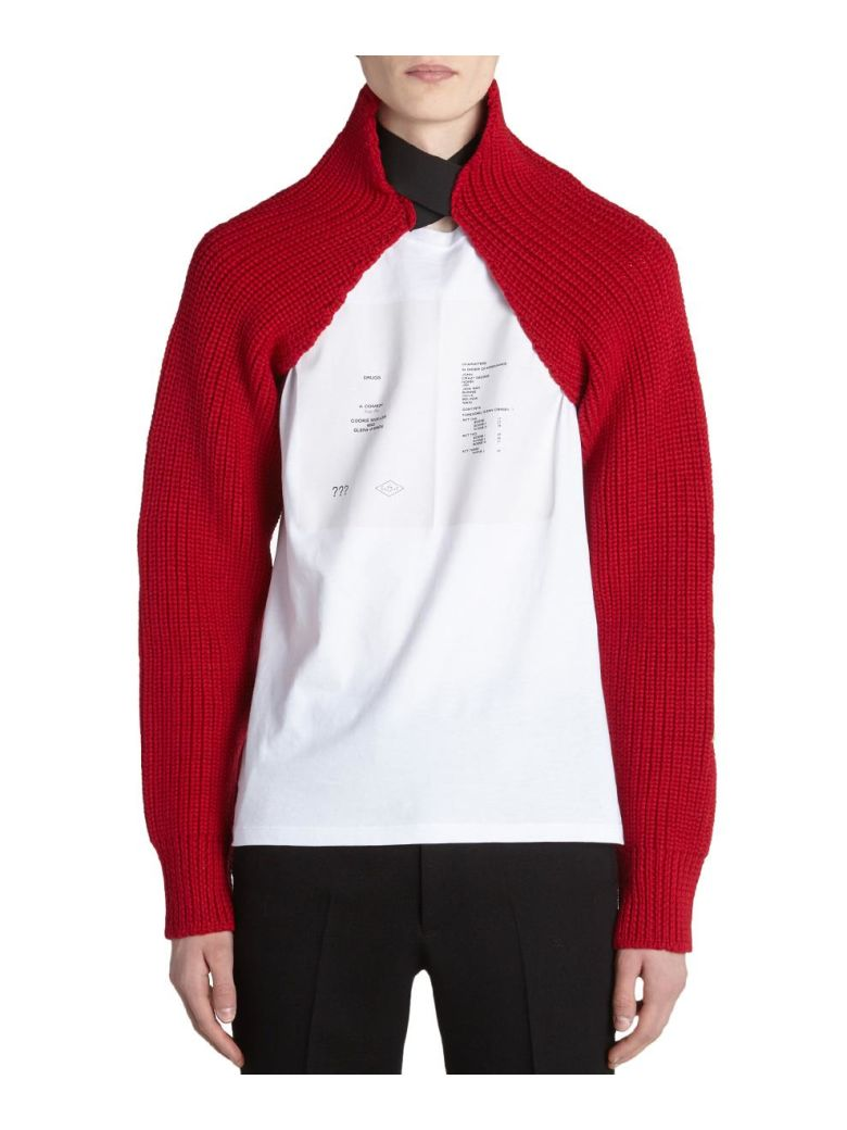 Raf Simons Knitted Sleeves - ROSSO
