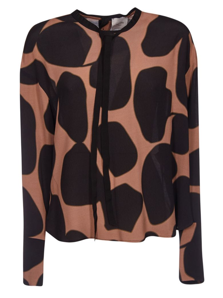 Alysi Printed Top - Brown/Black