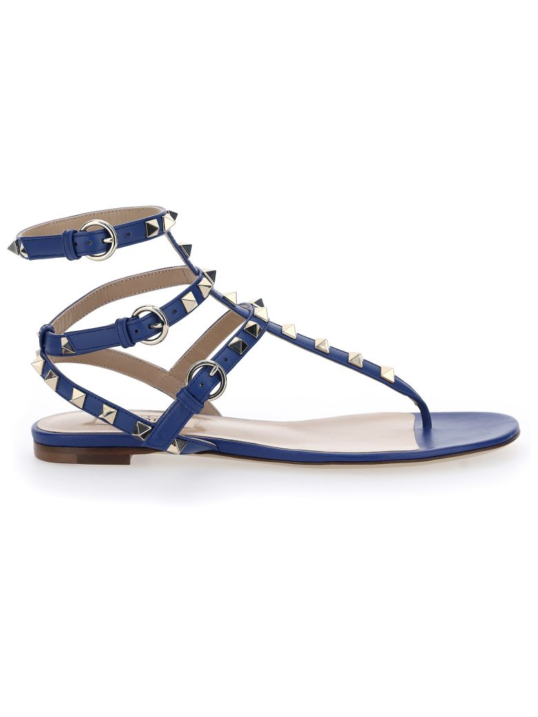 Valentino Garavani Rockstuds Sandals - Blu delft