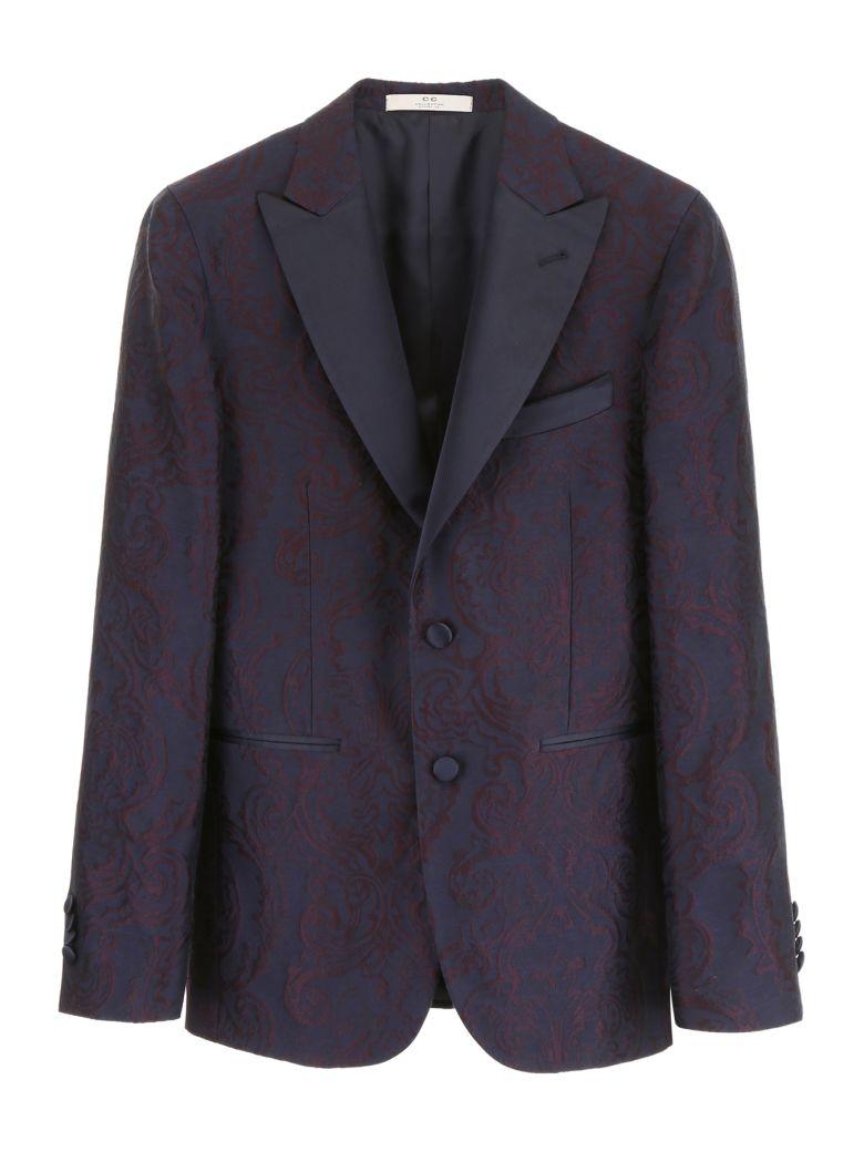 CC Collection Corneliani Brocade Jacket - BORDEAUX BLUE Nero