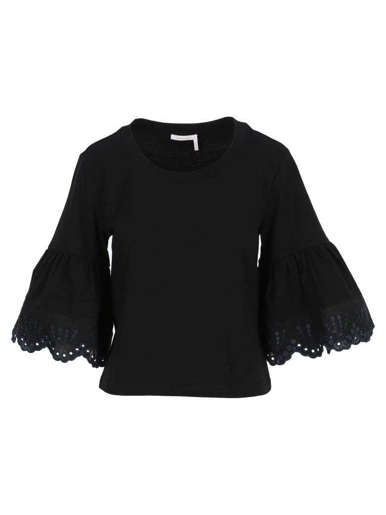 See by Chloé See By Chloe' Long Sleeve Tshirt - Black