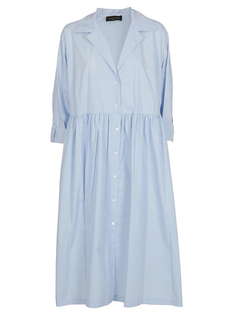 Roberto Collina Pleated Shirt Dress - Azure
