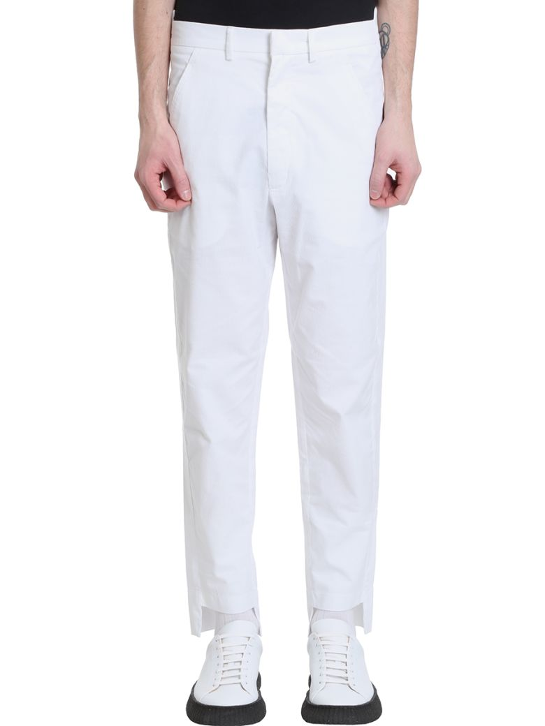 Maison Flaneur Chino White Velour Pants - white