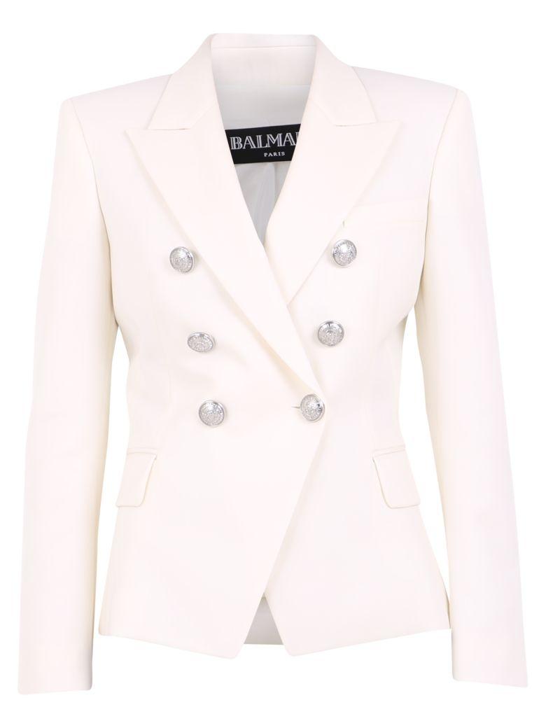 Balmain Double-breasted Jacket - White