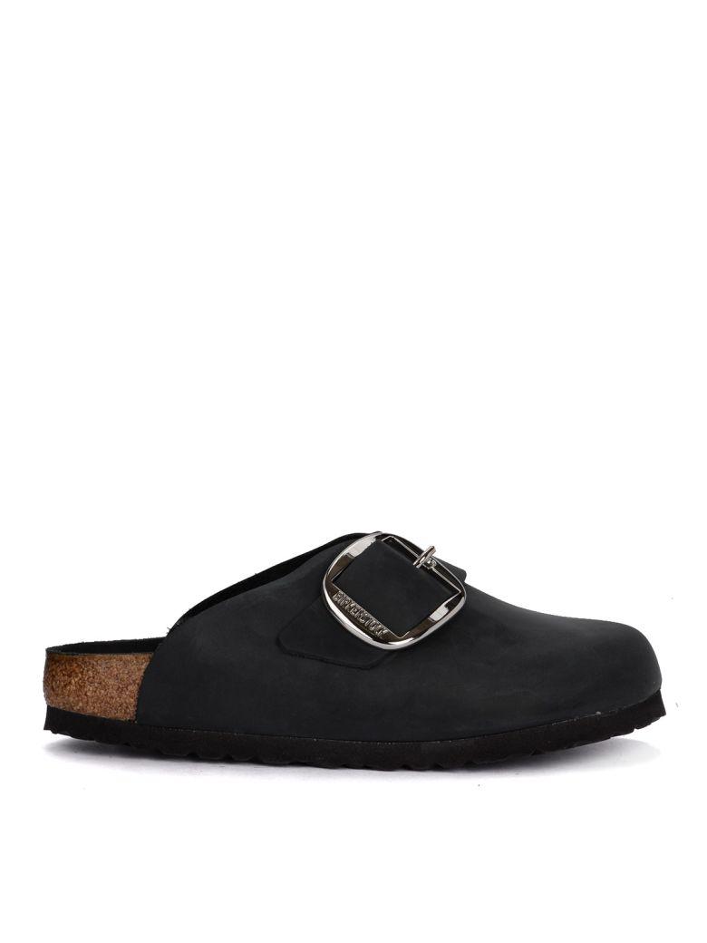Birkenstock Basel Big Buckle Black Leather Sabot - Premium - Black