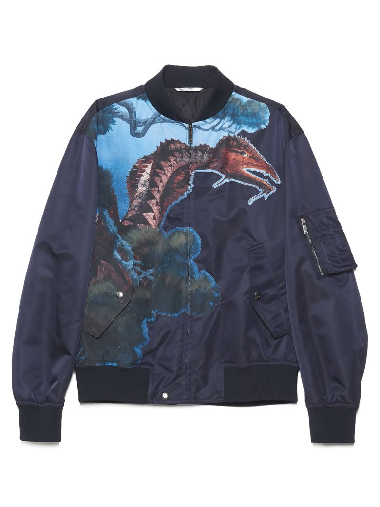 Valentino 'dragons Garden' Bomber Jacket - Multicolor