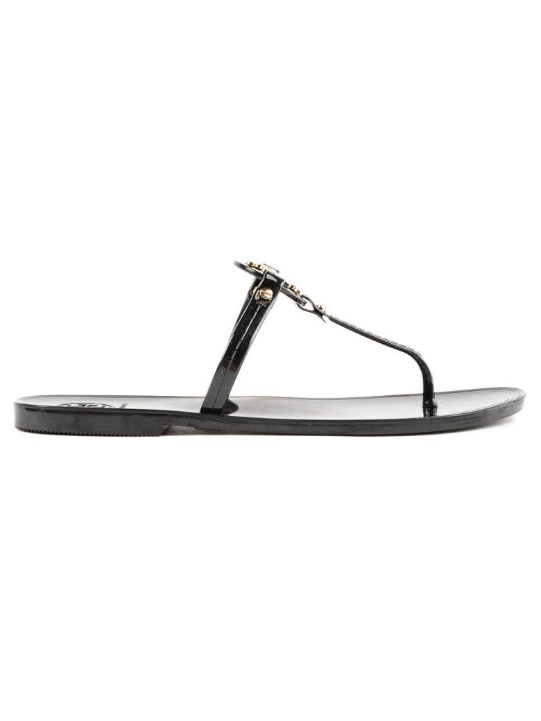Tory Burch T-bar Flat Sandals - Black