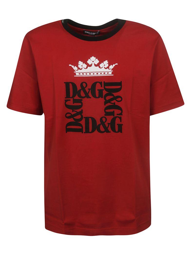 Dolce & Gabbana Crown Logo Print T-shirt - Basic