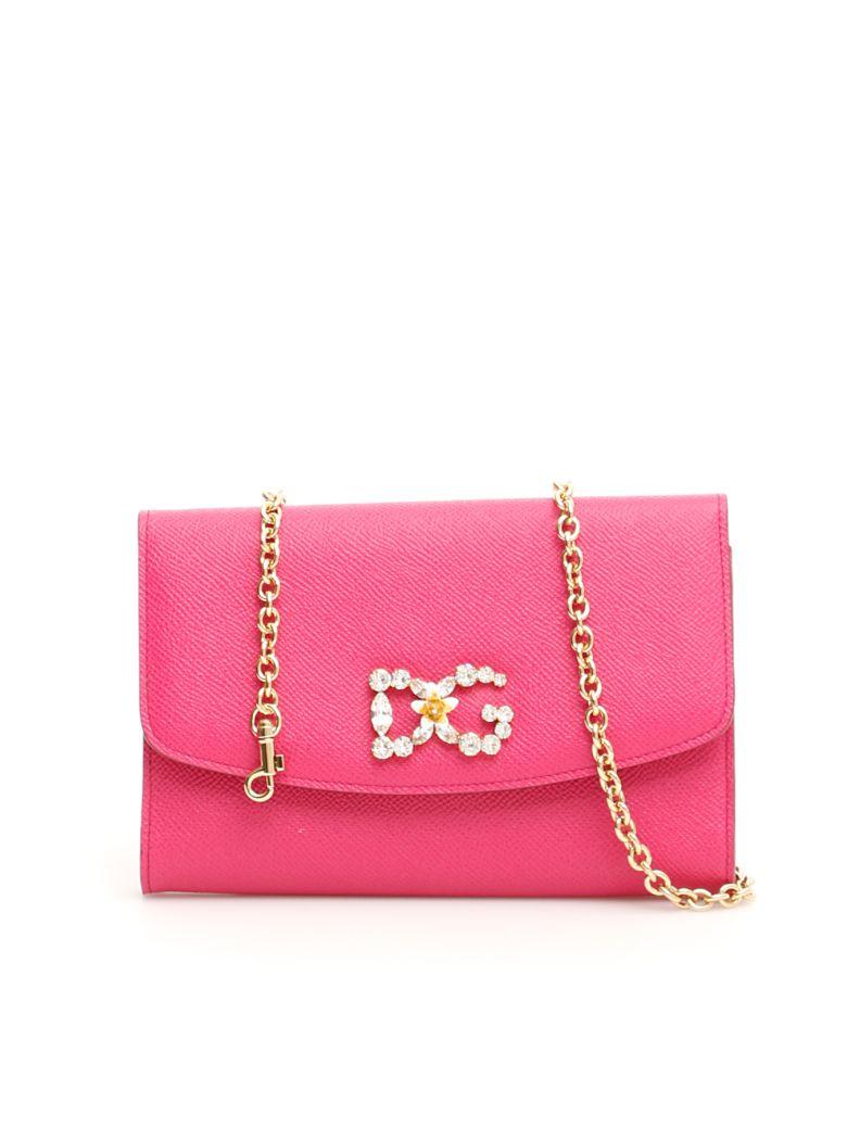 Dolce & Gabbana Crystal Dg Wallet Bag - ROSA GERANIO (Fuchsia)