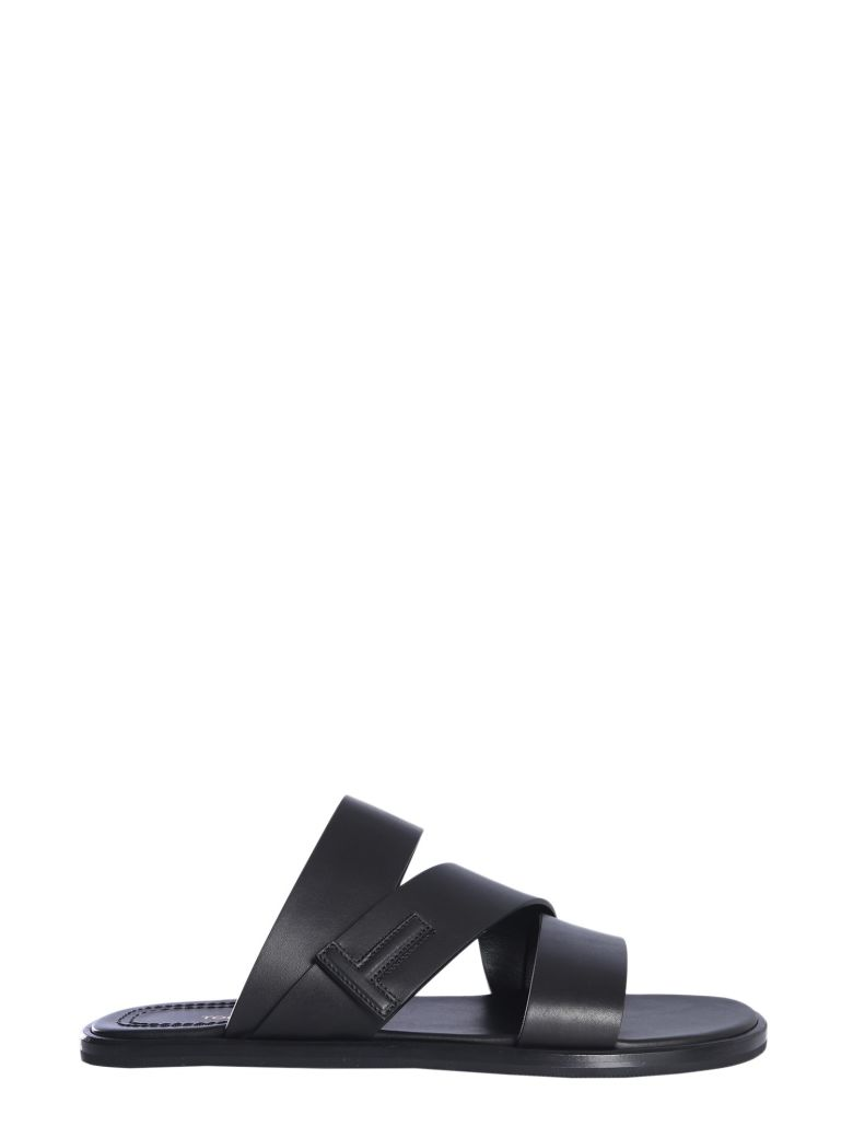Tom Ford Leather Sandals - NERO