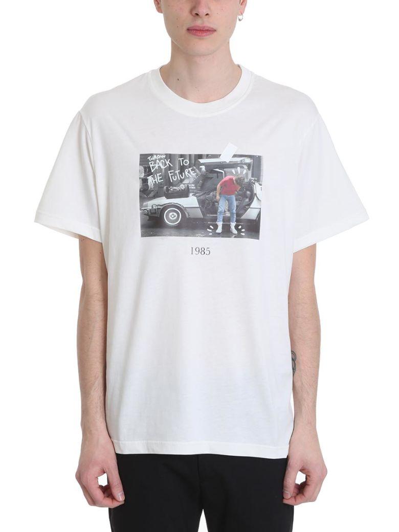 Throw Back Marty White Cotton T-shirt - White