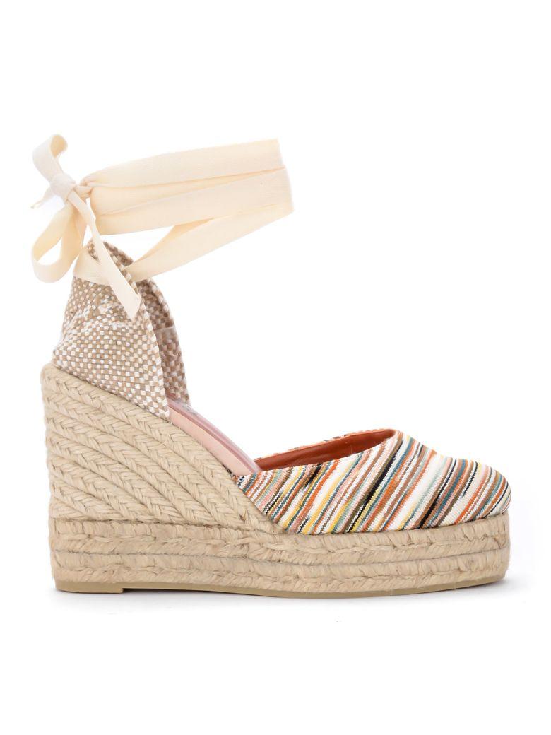 Castañer By Missoni Carina Multicolor Striped Fabric Wedge Sandal. - MULTICOLOR