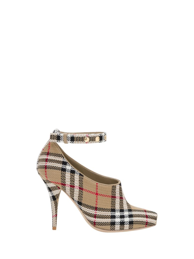 Burberry Open Toe With Vintage Check Motif - Beige