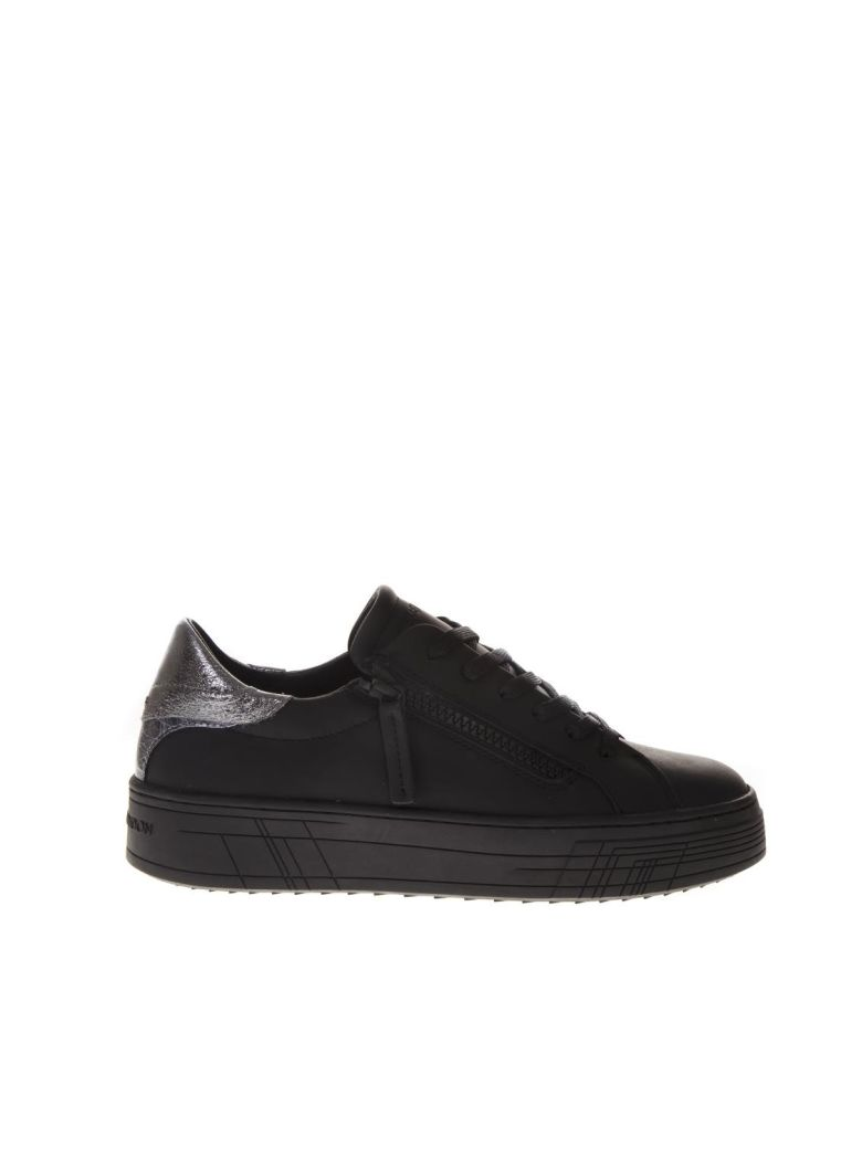 Crime london Krazy Black Leather Sneakers - Black