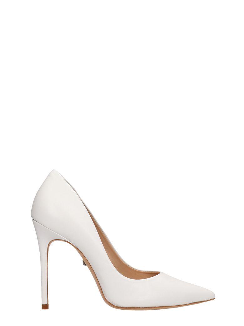 Schutz White Calf Leather Pumps - white
