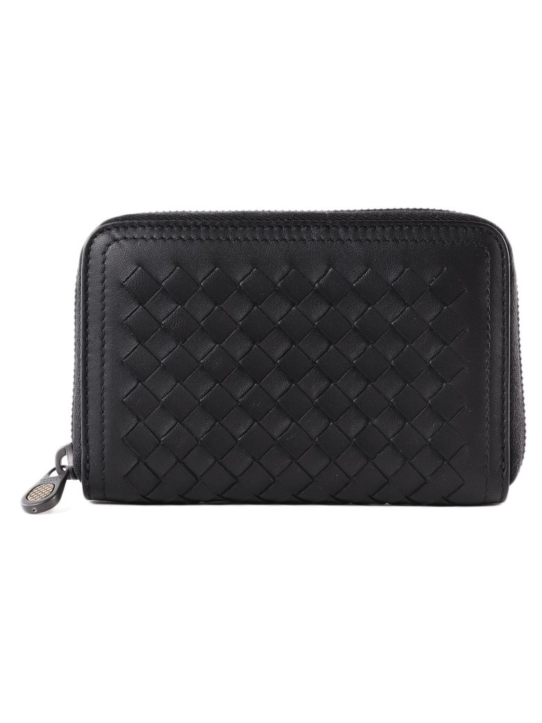 Bottega Veneta Classic Zip Around Wallet - Nero