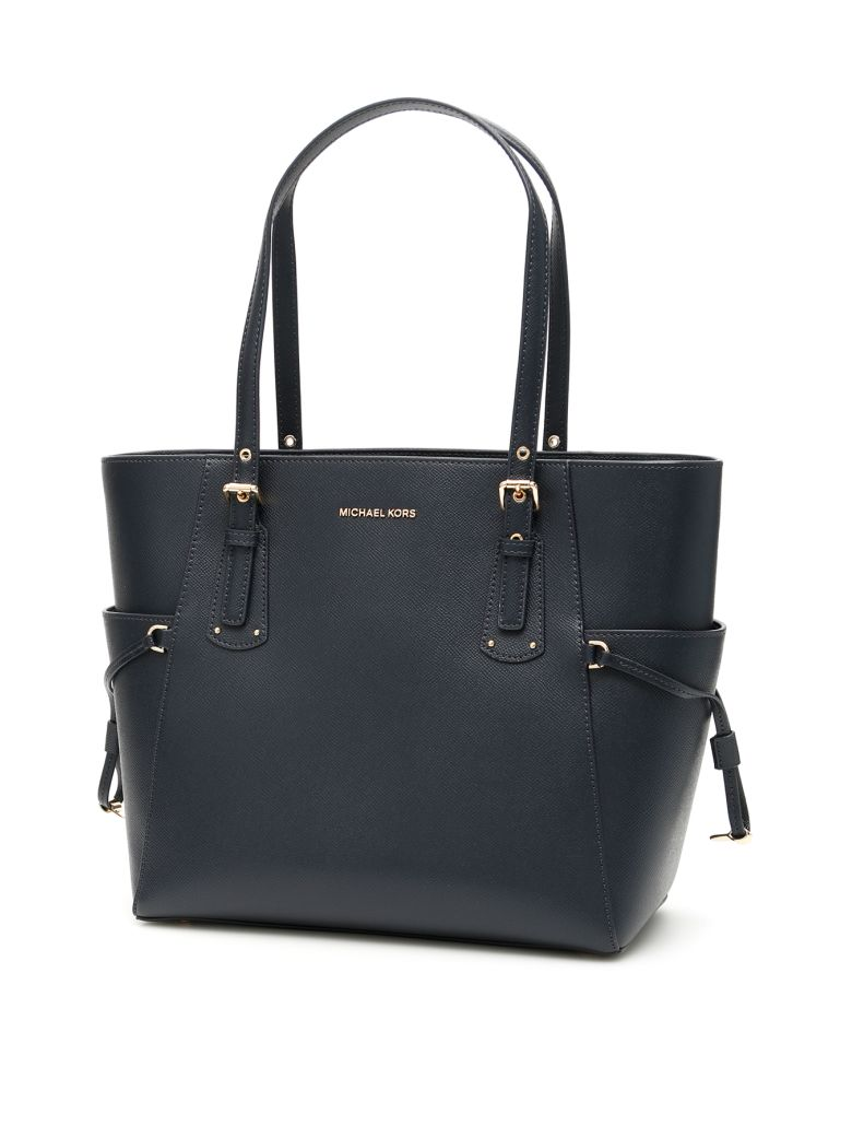 MICHAEL Michael Kors Voyager Leather Tote Bag - ADMIRAL (Blue)