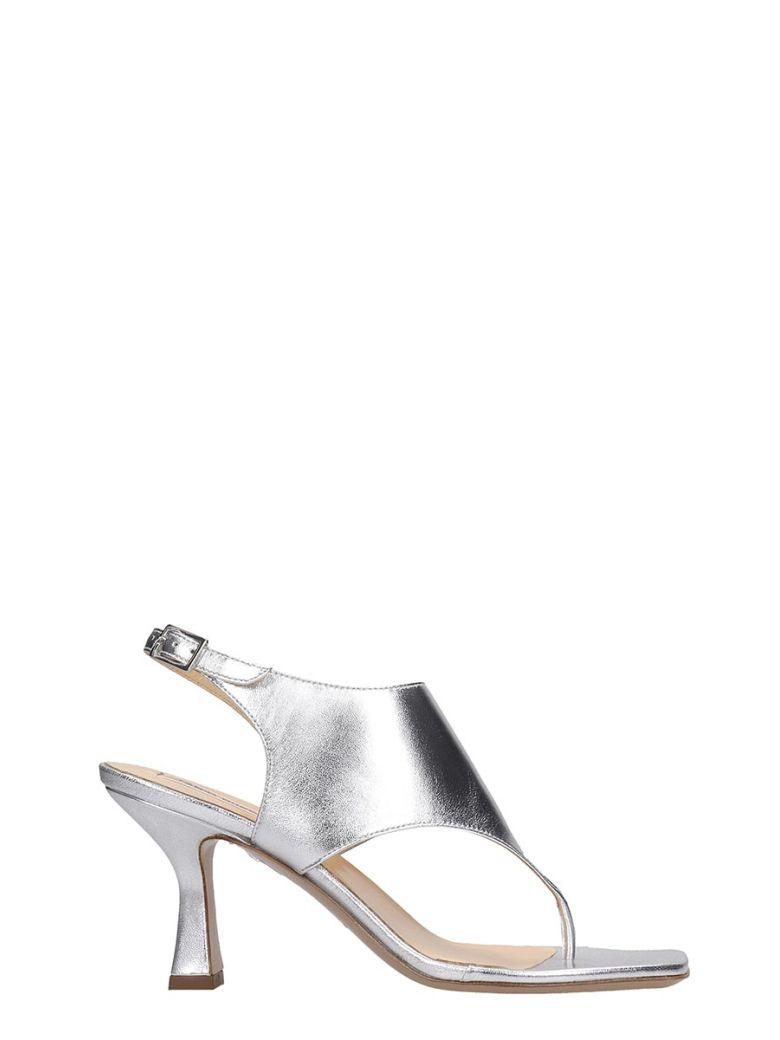 Fabio Rusconi Sandals In Silver Leather - silver