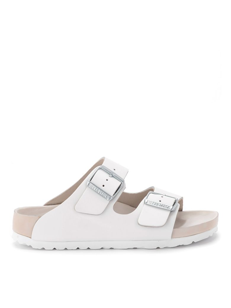 Birkenstock Monterey White Leather Sandal - White
