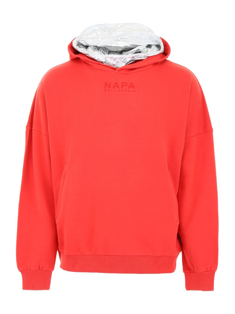 Napa By Martine Rose Hoodie With Detachable Insert - RED (Red)