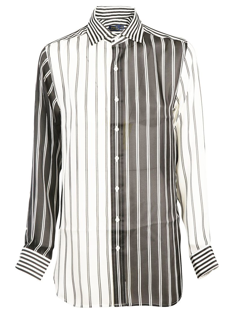 Ralph Lauren Striped Shirt - Blk/crm