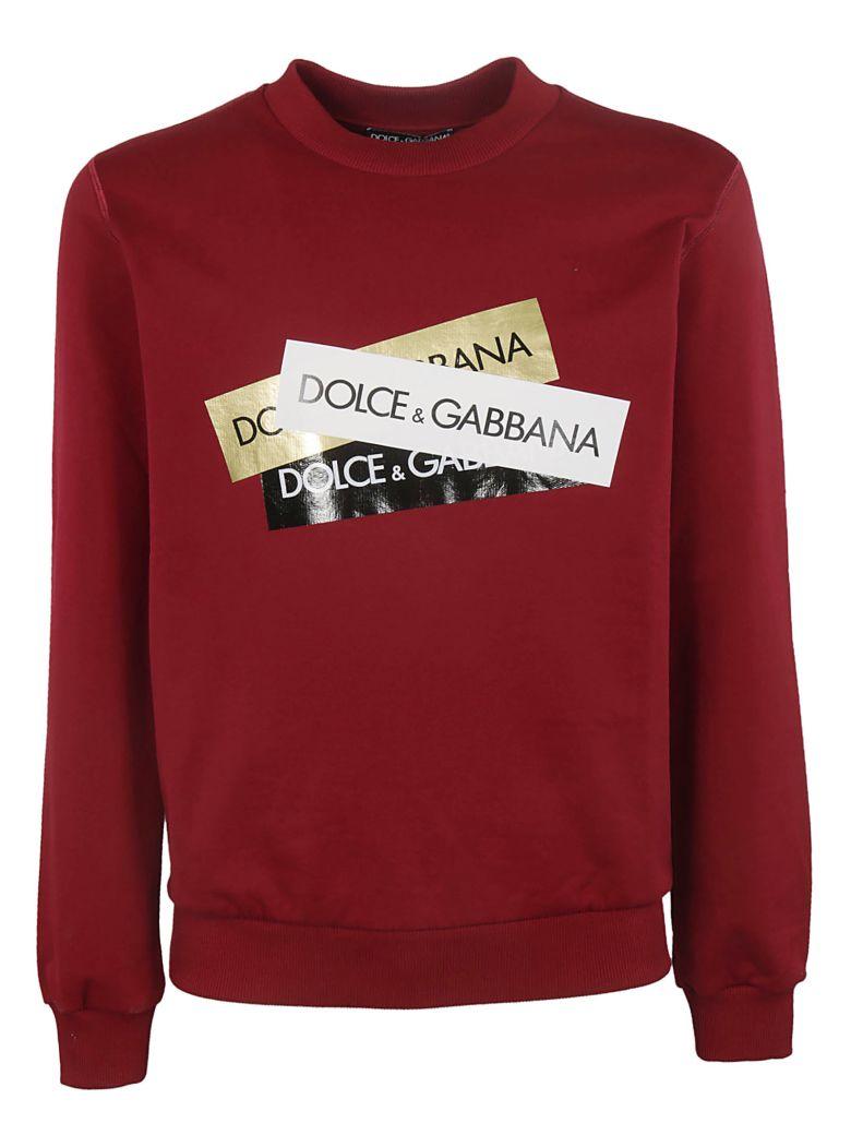 Dolce & Gabbana Logo Print Sweatshirt - Red