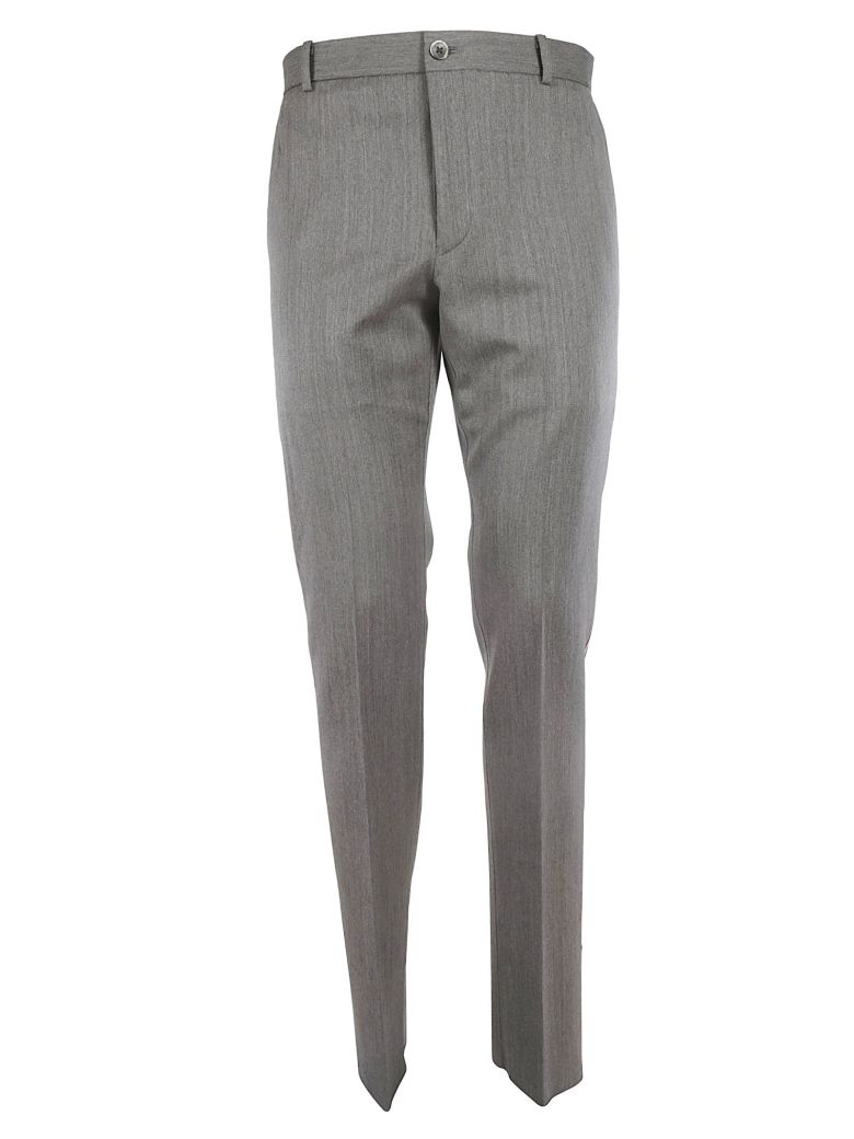 Thom Browne Tailored Signature Trim Trousers - GREY