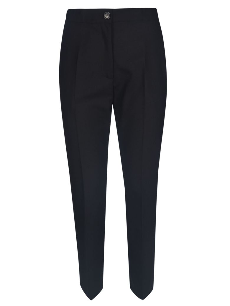 Erika Cavallini Wide Buttoned Trousers - Black