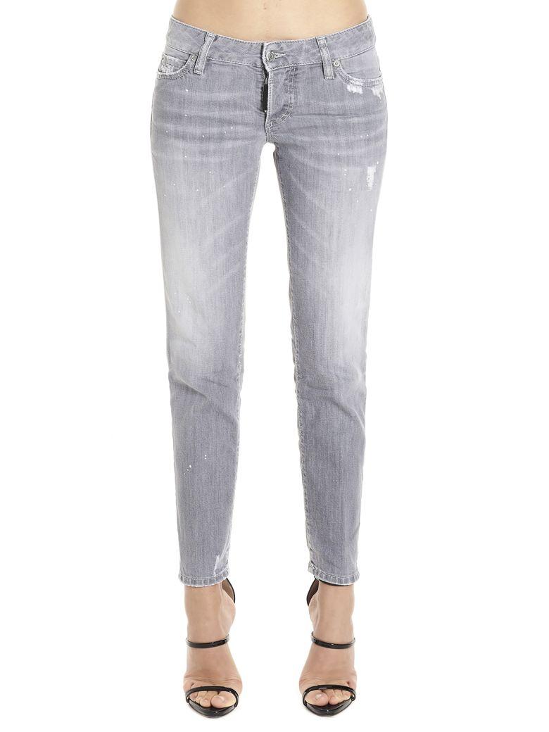Dsquared2 'jennifer Cropped' Jeans - Grey
