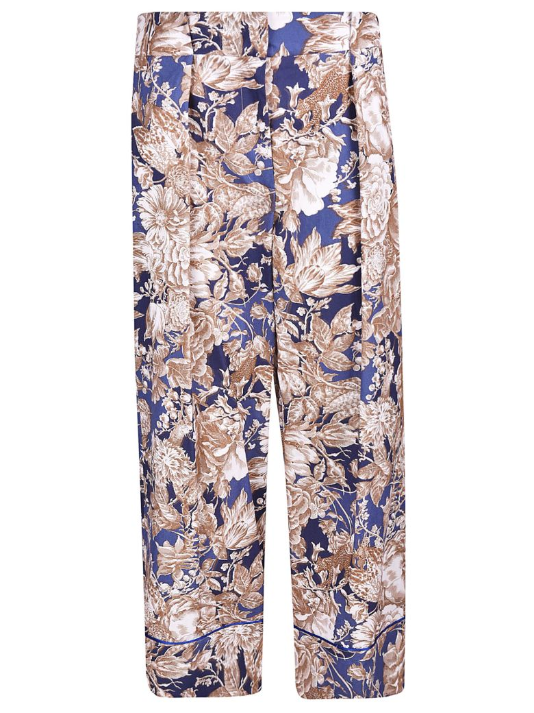 Weekend Max Mara Floral Print Trousers - Basic