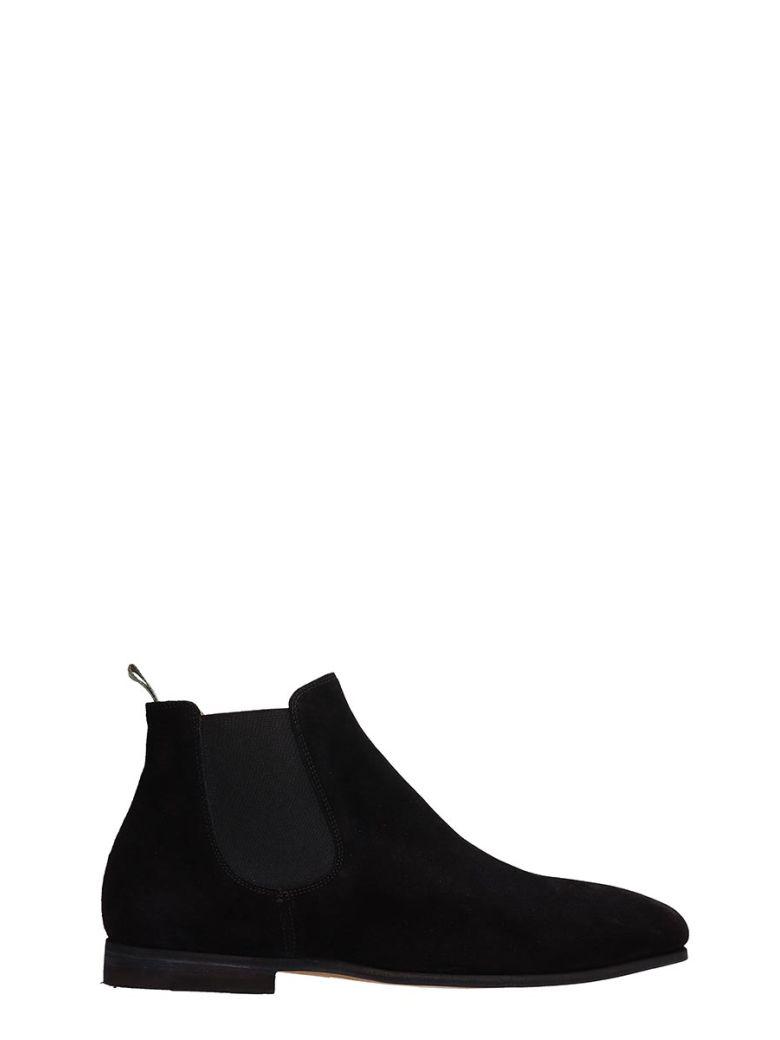 Officine Creative Black Suede Revien Ankle Boots - Black